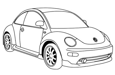 Beetle Car Coloring Page | free coloring pages of vw bug
