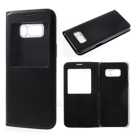 Samsung C9 Pro 2017 C9pro Flip Mirror Smart Autolock Wallet view window leather mobile phone for samsung galaxy s8 black