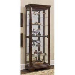 Curio Cabinet With Mirror 80 In Curio Cabinet W Mirrored Back Walmart