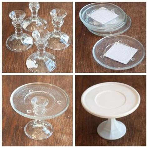 Dollar General Home Decor by Diy Cake Plate Candlestick Holders And Small Plates From