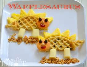 food crafts food craft wafflesaurus snack shesaved 174