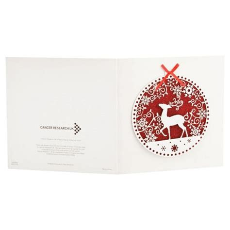 Tesco Gift Card Range - buy tesco finest charity laser cut reindeer red christmas cards 5pack from our gift