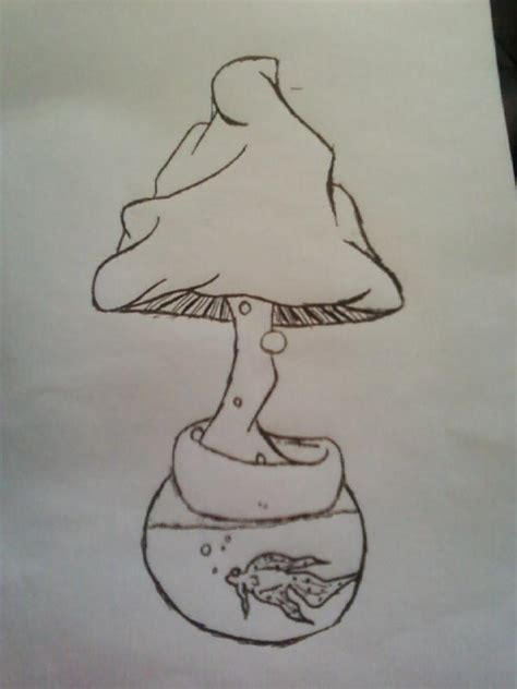 fish bowl shroom sketch by teh shroomy stoner on deviantart