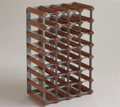 wood and metal industrial wine rack 187 gadget flow