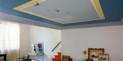 How To Paint From Ceiling by Learn How To Paint An Accent Pattern On Your Ceiling How