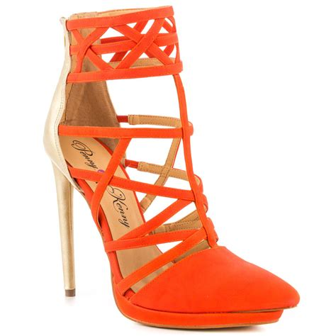 orange gold prom shoes 2014 by kenny prom