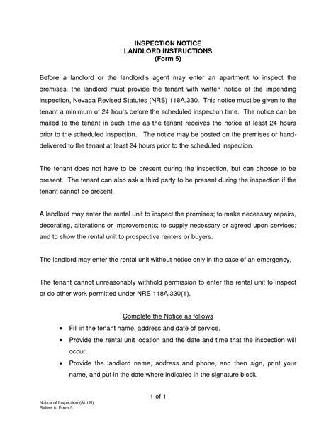Letter For Rental Property Inspection 7 Best Images Of Rental Property Inspection Notice Letter Apartment Inspection Notice Letter