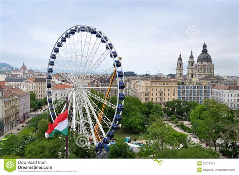 Plans For Building A Cabin giant ferris wheel in downtown budapest editorial