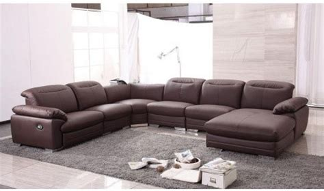 modern sectional with recliner tosh furniture modern contemporary leather sectional