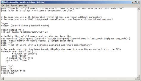 kb tcl script   ias command   export