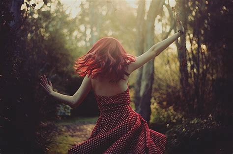 dancer with hair the woman in the red polka dot dress mother nature