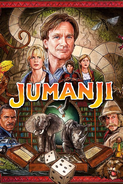jumanji movie poster jumanji 1995 posters the movie database tmdb