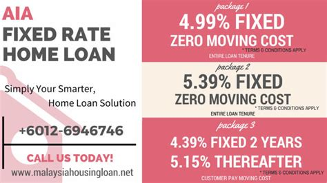 aia fixed rate home loan packages malaysia housing loan