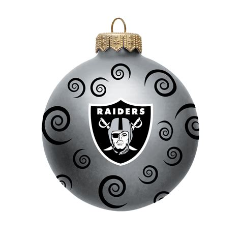 nfl oakland raiders ball ornament with swirls