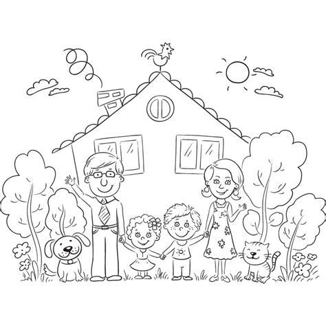 juegos de familia para colorear imprimir y pintar dibujos de familia 174 im 225 genes para colorear y pintar