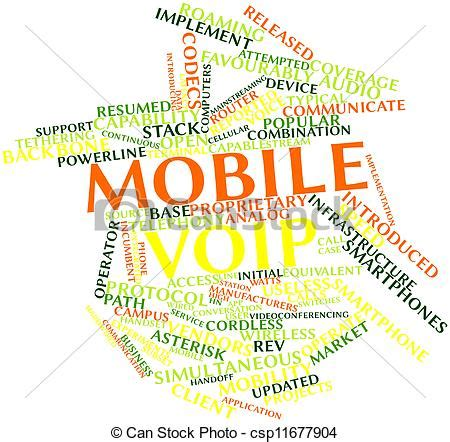 mobile voip login abstract word cloud for mobile voip with related tags and