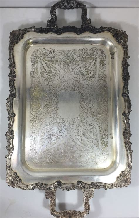 Vintage 1 Jumbo Maxi By Zhafash vintage silverplate handled large footed serving butler s tray