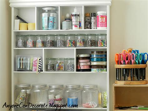 anyone can decorate craft room organizing storage bins