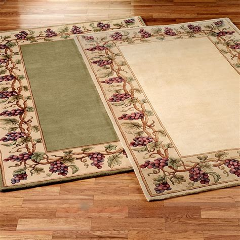 Kitchen Area Rug by Grapes Napa Border Area Rugs