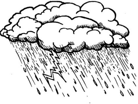 lluvia para colorear pintar im genes tormenta con rayos y lluvias para pintar y colorear un