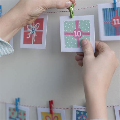 make your own advent calendar free make your own advent calendar kit by cotton twist