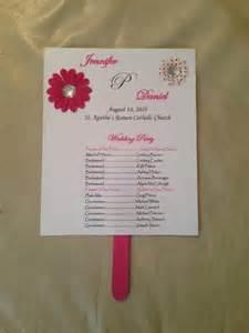 Wedding Program Fan Sticks Wedding Program As Fans Weddings Do It Yourself Planning Wedding Forums Weddingwire