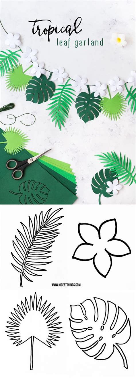 printable paper garland 621 best images about printables leaves on pinterest