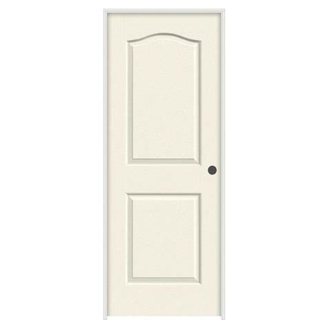 Jeld Wen Doors Interior Jeld Wen 24 In X 80 In Molded Textured 2 Panel Eyebrow Vanilla Solid Composite