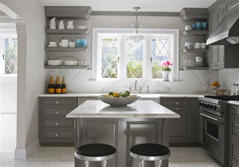 Grey Kitchen Cabinets Gray Kitchen Cabinets Contemporary Kitchen Glidden Carolina Strand House Beautiful
