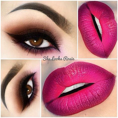 Eye Berry Cafe valentine s day makeup ideas brown smokey with berry ombre she looks rosie