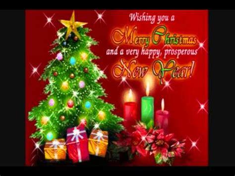 wishing   merry christmas   happy prosperous  year youtube