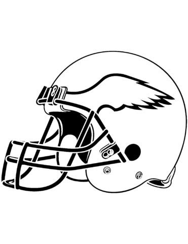 eagle football coloring pages philadelphia eagles helmet coloring page free printable