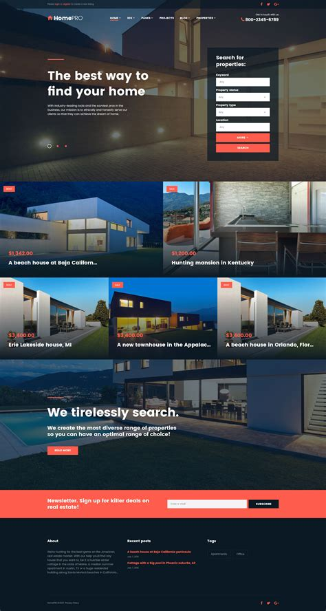 Real Estate Agency Wordpress Theme Free Real Estate Responsive Website Templates