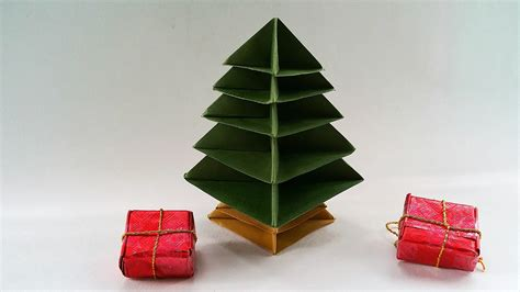 modular origami paper christmas tree very easy to make