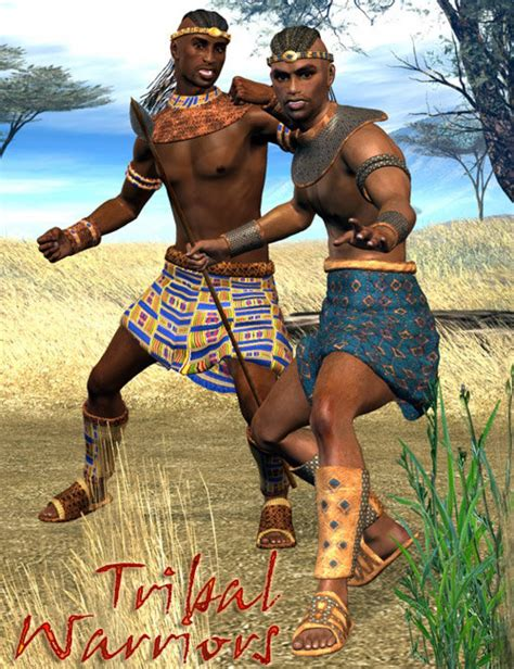tribal warriors 3d models and 3d by daz 3d