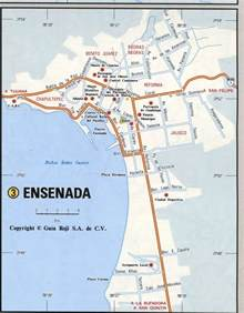 ensenada mexico map