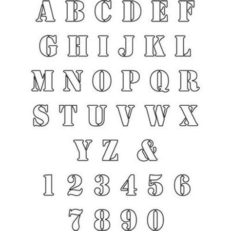 free printable letter stencils for sewing free patterns to print out free printable alphabet