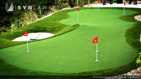 backyard putting greens artificial grass golf greens