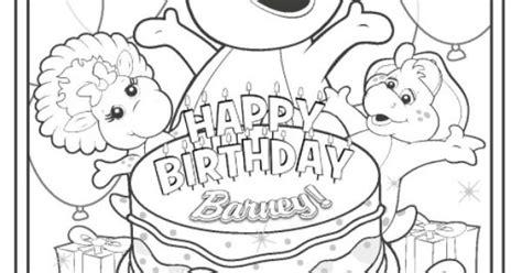 happy birthday barney coloring pages happy birthday barney coloring sheet printables