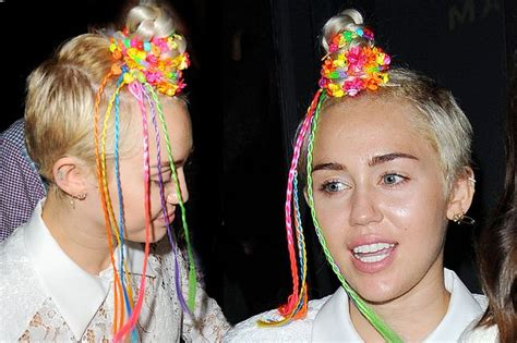hair accessories to make with loom bands miley cyrus and loom bands equals the worst neon hair