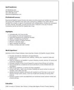 Cover Letter For Education Support Worker Professional Disability Support Worker Templates To Showcase Your Talent Myperfectresume