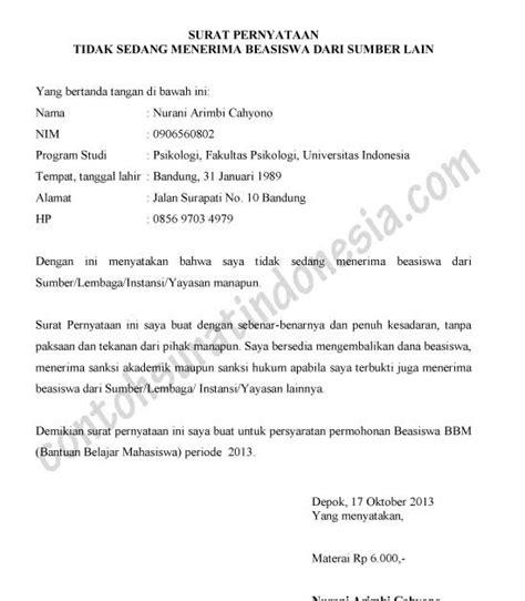 contoh surat pernyataan jaminan barang 7 contoh o