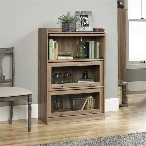 sauder barrister salt oak 3 door bookcase 422787