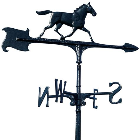 Blackhorse Plumbing by Whitehall Products 30 In Black Accent Weathervane