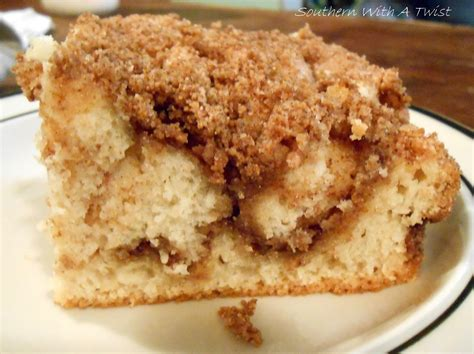 Southern With A Twist: Cinnamon Streusel Coffee Cake