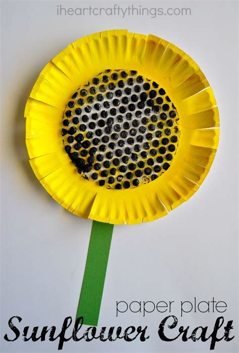 Paper Plate Crafts For Summer - paper plate sunflower craft summer crafts wrap