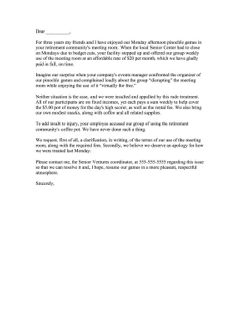 Request Letter Format For Venue Event Venue Rental Complaint Letter