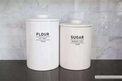 kitchen canisters flour sugar friday favorites fashion the side up