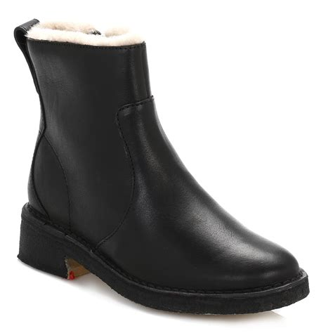 clarks womens black leather chelsea boots zip up casual