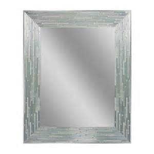 mirror glass home depot deco mirror 30 in l x 24 in w reeded sea glass wall